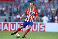 August 1, 2017 - Munich, Germany - Diego Godin of Atletico de Madrid during the first Audi Cup football match between Atletico Madrid and SSC Napoli in the stadium in Munich, southern Germany, on August 1, 2017. (Credit Image: © Matteo Ciambelli/NurPhoto via ZUMA Press)