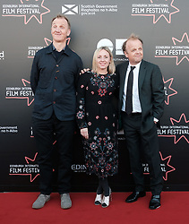 Edinburgh International Film Festival, Saturday 24th June 2017<br /> <br /> KALEIDESCOPE UK PREMIERE<br /> <br /> Rupert Jones, Sinead Matthews and Toby Jones<br /> <br /> (c) Alex Todd   Edinburgh Elite media