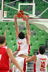 Milos Borisov of Montenegro at friendly match between Croatia and Montenegro for Adecco Cup 2011 as part of exhibition games before European Championship Lithuania on August 6, 2011, in SRC Stozice, Ljubljana, Slovenia. (Photo by Urban Urbanc / Sportida)