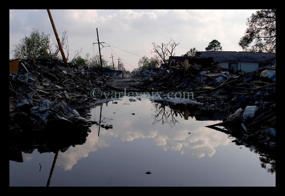 30th Sept, 2005. Hurricane Katrina aftermath, New Orleans, Louisiana. Lower 9th ward. The remnants of the lives of ordinary folks, now covered in mud as the flood waters remain.