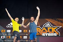 Jongwon Chon of Korea and Jernej Kruder of Slovenia during Final of Adidas RockStars 2018, on September 22, 2018 in Porsche-Arena, Stuttgart, Germany. Photo by Urban Urbanc / Sportida