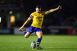 Freddie Burns of Bath Rugby kicks for the posts - Mandatory byline: Patrick Khachfe/JMP - 07966 386802 - 23/11/2019 - RUGBY UNION - The Twickenham Stoop - London, England - Harlequins v Bath Rugby - Heineken Champions Cup