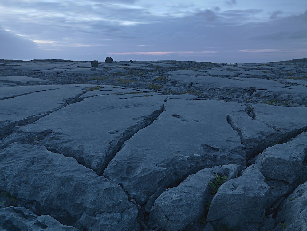 Burren coast at night, Ireland