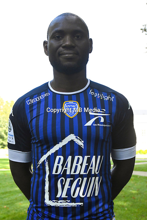 Henri Bienvenu Ntsama during the photocall of Troyes Estac for season of ligue 2 on September 3rd 2016 in Troyes<br /> Photo : Philippe Le Brech / Icon Sport