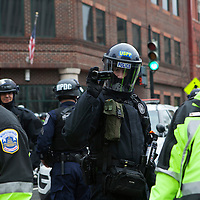 Washington DC, USA, 20 January, 2017. Police video record DisruptJ20 protesters during the inauguration of Donald J. Trump.