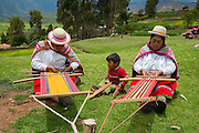 Quecha Woman Weaving, Misminay village, Sacred Valley, Cusco Region, Urubamba Province, Machupicchu District, Peru