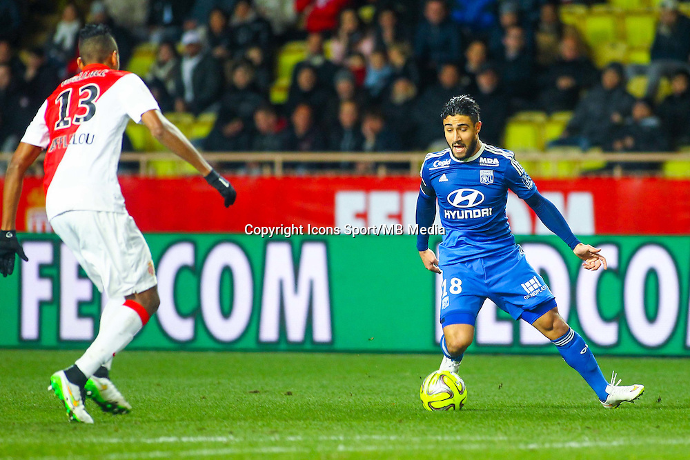 Nabil FEKIR - 01.02.2015 - Monaco / Lyon - 23eme journee de Ligue 1 -<br /> Photo : Serge Haouzi / Icon Sport