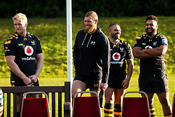 Ben Morris, Brad Shields, Zurabi Zhvania and Sione Vailanu of Wasps - Mandatory by-line: Robbie Stephenson/JMP - 18/11/2019 - RUGBY - Broadstreet Rugby Football Club - Coventry , Warwickshire - Wasps Squad Photo
