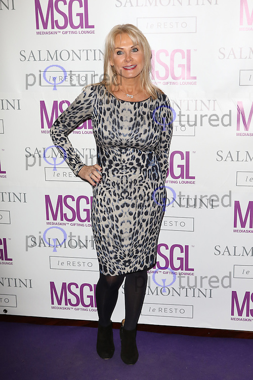 Carol Wright, MediaSkin Gifting Lounge, Salmontini Le Resto, London UK, 19 January 2015, Photo by Richard Goldschmidt