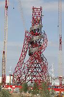 London 2012 Olympic Park Anish Kapoor ArcelorMittal Orbit Tower Sculpture - One year to go before the start of the London 2012 Olympic Games and the Olympic Park nears completion. London, UK, 30 July 2011:  Contact: Rich@Piqtured.com +44(0)7941 079620 (Picture by Richard Goldschmidt)