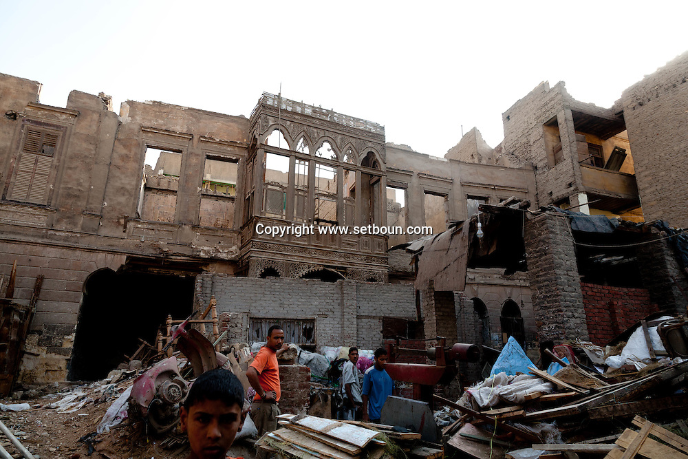 Egypt. Cairo -palace in ruins , IN ASLAM AL SILHADAR mosque AREA  , islamic Cairo +