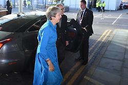 September 29, 2018 - Birmingham, West Midlands, United Kingdom - Theresa May Arrives at Conference...British Prime Minister, Theresa May arrives in Birmingham for the Conservative Party conference in Birmingham. (Credit Image: © Pete Maclaine/i-Images via ZUMA Press)