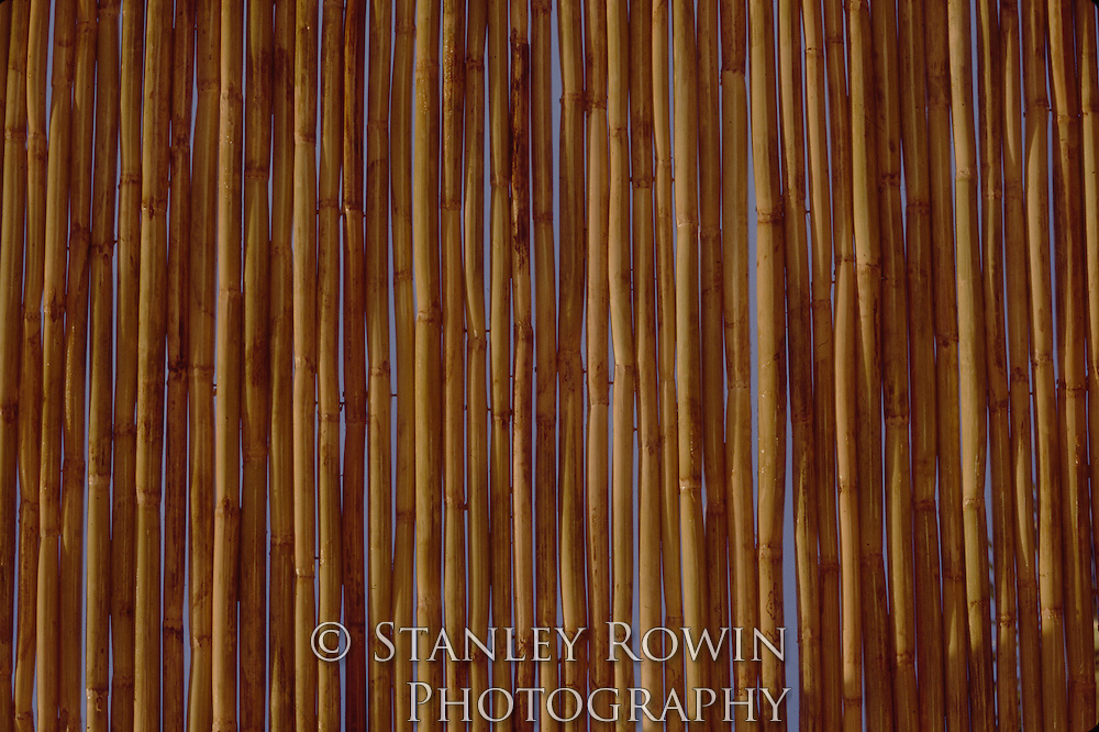 Bamboo Fence as Pattern and Textures