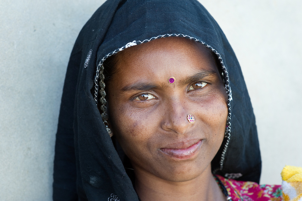 Rajasthani woman from the Bhopa tribe. Thar desert, Rajasthan, India.