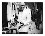 Café waiter in the souq, Tunis, Tunisia.
