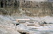 Mortuary temple of Queen Hatshepsut (?1540-?1481) 18th dynasty queen of Egypt, daughter of Tuthmosis I, at Deir-el-Bahri. Landscape format