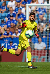 LEICESTER, ENGLAND - Saturday, September 1, 2018: Liverpool's goalkeeper Alisson Becker during the FA Premier League match between Leicester City and Liverpool at the King Power Stadium. (Pic by David Rawcliffe/Propaganda)