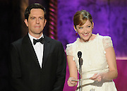Ed Helms and Judy Greer present Female Actor in a Drama Series. The 18th Annual Screen Actors Guild Awards were held at the Shrine Exposition Center in Los Angeles, CA 1/29/2012(John McCoy/Staff Photographer)
