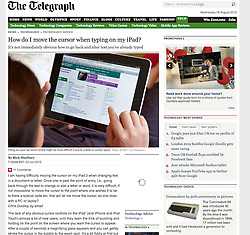 The Telegraph; woman using iPad