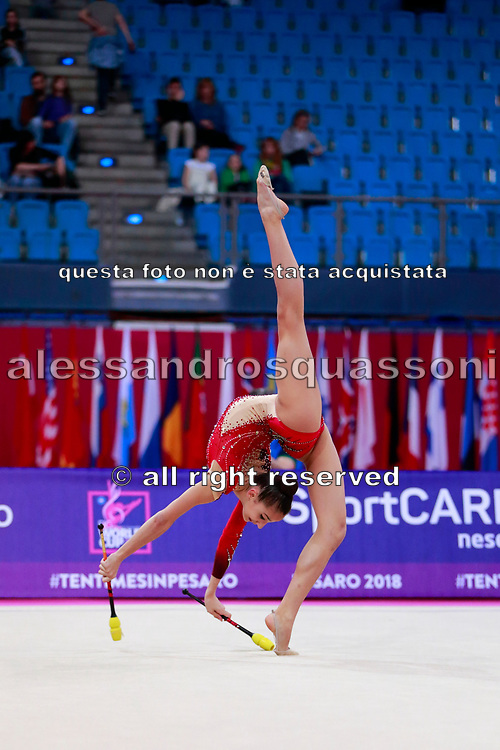 Lozic Suncica during the qualification of the clubs at the Pesaro World Cup 2018.<br />