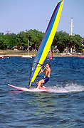 Wind surfing on Lake Harriet.  Minneapolis Minnesota USA