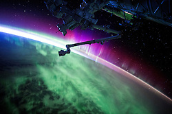 EARTH Aboard the International Space Station -- 15 Aug 2015 -- NASA astronaut Scott Kelly took this remarkable image of an aurora during his Year in Space mission aboard the International Space Station --. EXPA Pictures © 2016, PhotoCredit: EXPA/ Photoshot/ Scott Kelly/Atlas Photo Archive/<br />