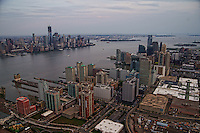 Jersey City & Lower Manhattan Skylines with Hudson River