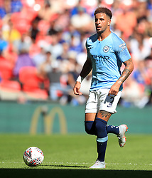 "Manchester City's Kyle Walker during the Community Shield match at Wembley Stadium, London. PRESS ASSOCIATION Photo. Picture date: Sunday August 5, 2018. See PA story SOCCER Community Shield. Photo credit should read: Adam Davy/PA Wire. RESTRICTIONS: EDITORIAL USE ONLY No use with unauthorised audio, video, data, fixture lists, club/league logos or ""live"" services. Online in-match use limited to 75 images, no video emulation. No use in betting, games or single club/league/player publications."