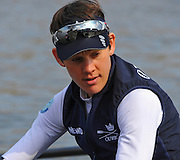 London, Great Britain, OUWBC, Caryn DAVIES. BNY Mellon, University Women's Boat Race Tideway Week, Putney to Mortlake. ENGLAND. <br /> <br /> Tuesday   07/04/2015<br /> <br /> [Mandatory Credit;Intersport-images]