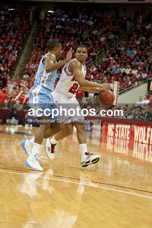 26 January 2010: North Carolina State Wolfpack guard Julius Mays (24) during a 77-63 loss to the North Carolina Tar Heels at the RBC Center in Raleigh, NC.