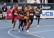 Jul 25, 2019; Des Moines, IA, USA; Donavan Brazier wins 800m heat in 1:47.66 during the USATF Championships at Drake Stadium.