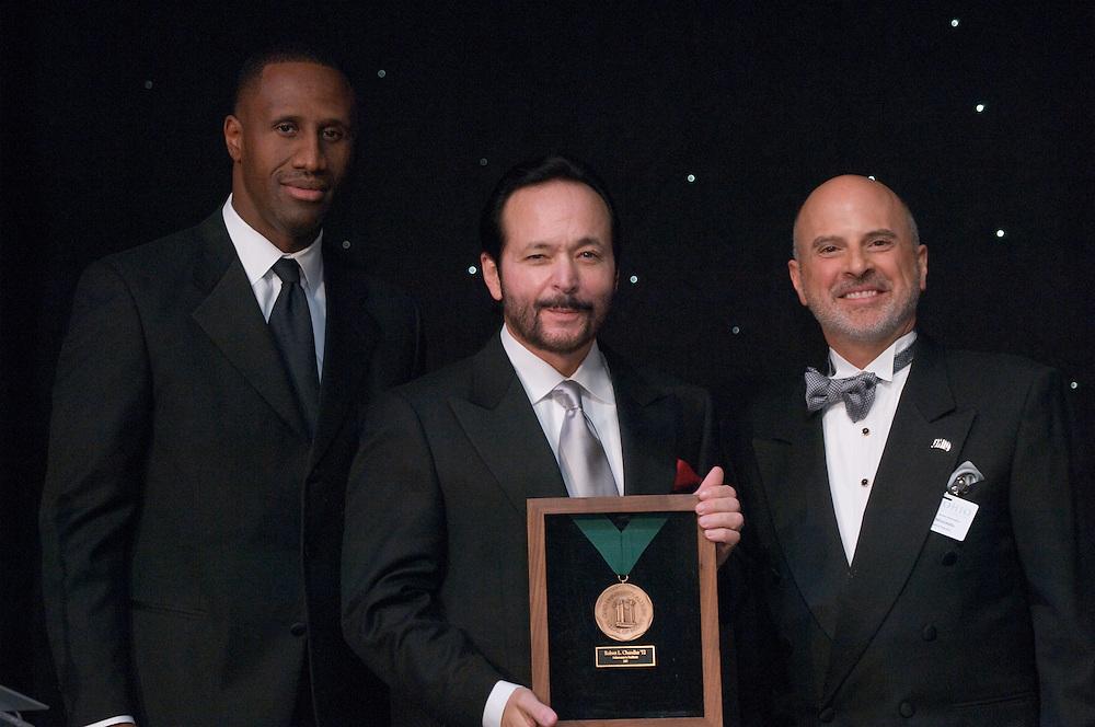 18450Alumni Awards Gala: ..Robert L. Chandler, MS '72(medal of merit)....Dennis Minichello,  and  Dell Robinson