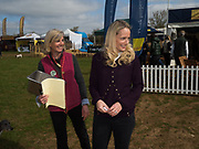 BECKY BLANDFORD; EMILY PRAGNALL, Heythrop Point to Point, Cocklebarrow, 2 April 2017.