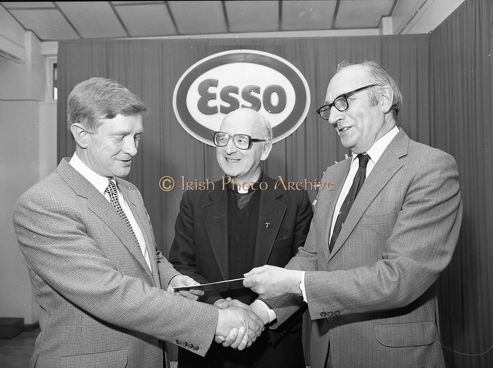 Schools athletic sponsorship press reception, ESSO,<br />