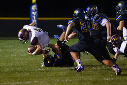 27 September 2019: LeRoy Panthers at Tri Valley Vikings boys HOIC (Heart of Illinois Conference) football, Heyworth Illinois<br /> <br /> 52 pulls at 4