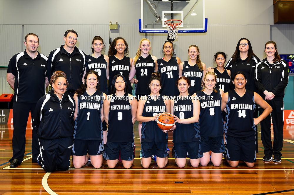 The Junior Tall Ferns for the Internation Basketball match, Game 2, Junior Tall Ferns V China, Cowles Stadium, Christchurch, New Zealand. 8th Sept 2016. Copyright Photo: John Davidson / www.photosport.nz
