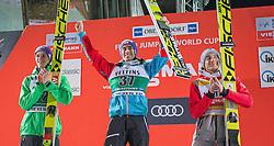 04.02.2017, Heini Klopfer Skiflugschanze, Oberstdorf, GER, FIS Weltcup Ski Sprung, Oberstdorf, Skifliegen, im Bild Andreas Welllinger (GER, 2. Platz), Sieger Stefan Kraft (AUT), Kamil Stoch (POL, 3. Platz) // 2nd placed Andreas Welllinger of Germany Winner Stefan Kraft of Austria and 3rd placed Kamil Stoch of Poland during mens FIS Ski Flying World Cup at the Heini Klopfer Skiflugschanze in Oberstdorf, Germany on 2017/02/04. EXPA Pictures © 2017, PhotoCredit: EXPA/ Peter Rinderer