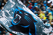 November 13, 2016: Carolina Panthers vs Kansas City Chiefs. Panthers flag waving after a touchdown