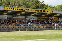 Annan Athletic's Galabank..Annan Athletic 1v 2 Dunfermline, Scottish Communities League Cup 1st round, 30th July 2011