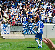 "July 13th. 2009. Official presentation of Shunsuke Nakamura as a  new player of the R.C.D. Espanyol of Barcelona. More than seven thousand supporters and numerous mass media have been present  in the presentation of the new player of the team of first Spanish division league  ""La Liga""."