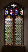 Victorian 19th century stained glass window, Claydon church, Suffolk, England, UK c1 849 by George Drury