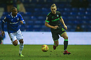 Forest Green Rovers Joseph Mills(23) runs forward during the EFL Sky Bet League 2 match between Oldham Athletic and Forest Green Rovers at Boundary Park, Oldham, England on 12 January 2019.