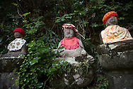 Statues at the first temple Ryōzen-ji (霊山寺) of the Shikoku Pilgrimage, 88 temples associated with the Buddhist monk Kūkai (Kōbō Daishi) on the island of Shikoku, Naruto,Tokushima Prefecture, Japan