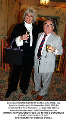 Comedian RONNIE CORBETT and his wife ANNE, at a lunch in London on 14th November 2003.POO 80