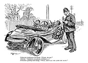 """Policeman (producing note-book). """"Name, please."""" Motorist. """"Aloysus-Alastair-Cyprian-."""" Policeman (putting book away). """"Well, don't let me catch you again."""""""