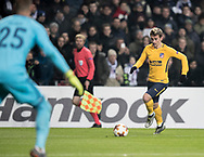 FOOTBALL: Antoine Griezmann (Atlético Madrid) runs with the ball during the UEFA Europa League, Round of 32, 1st leg match between FC København and Atlético Madrid at Parken Stadium, Copenhagen, Denmark on February 15, 2018. Photo: Claus Birch.