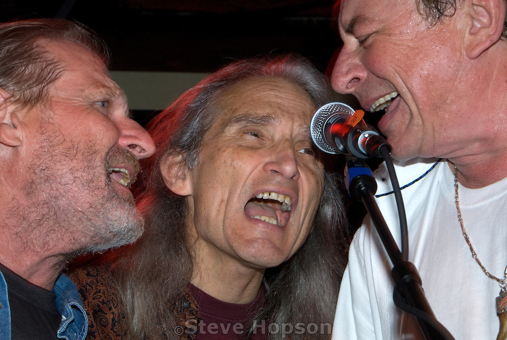 "Legendary Texas band, The Flatlanders, reunites with Butch Hancock, Jimmie Dale Gilmore and Joe Ely at the benefit for Jesse ""Guitar"" Taylor at Antone's in Austin Texas, April 10, 2008."