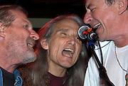 """Legendary Texas band, The Flatlanders, reunites with Butch Hancock, Jimmie Dale Gilmore and Joe Ely at the benefit for Jesse """"Guitar"""" Taylor at Antone's in Austin Texas, April 10, 2008."""