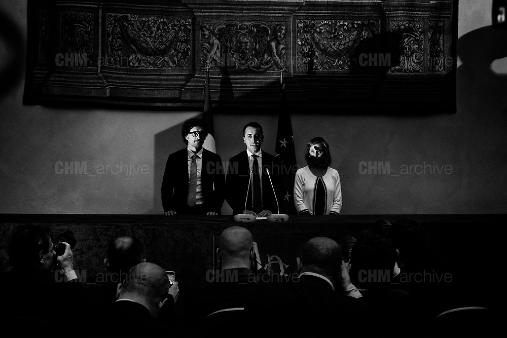 Luigi Di Maio after a meeting with the Chamber of Deputies President's during the consultations of political parties at the Montecitorio Palace in Rome on 24 April 2018. Christian Mantuano / OneShot
