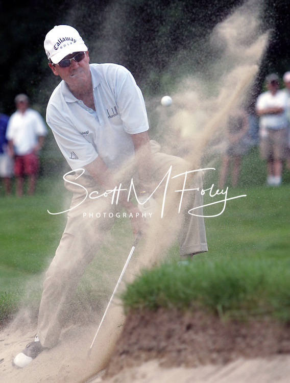 Mark McNulty defeated Tom Purtzer on the second extra hole of a playoff at the Bank of America Championship, winning his fourth Champions Tour title.  Don Pooley was eliminated on the first extra hole.  PGA Bank of America Championship, Nashawtuc Country Club, June 5 - 11, 2006, Concord, MA